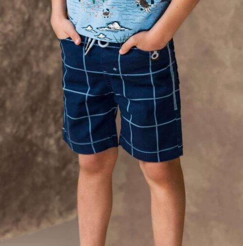 Short 4funkyflavours jongen blauw
