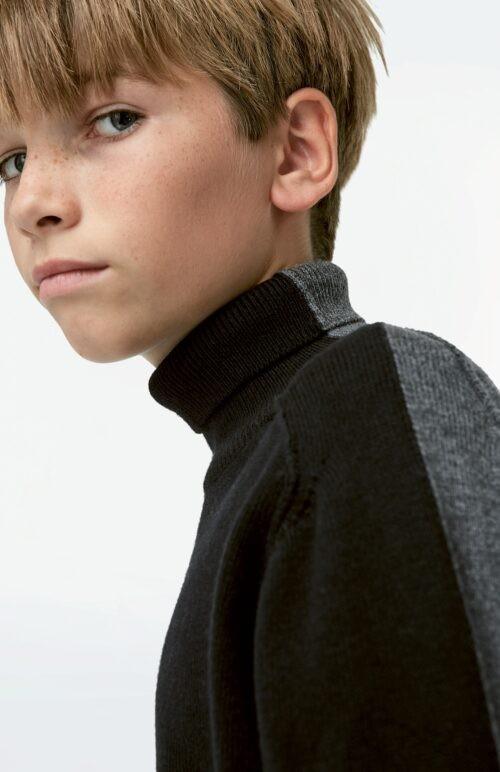 Trui Molo jongen zwart grijs