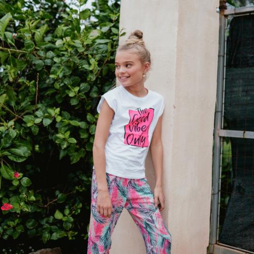 T-shirt Vingino meisje wit en roze