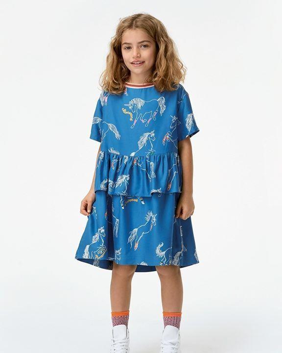 molo scoort weer met de nieuwe collectie! 🤩 . . Deze jurk met (subtiele) unicorn print is
