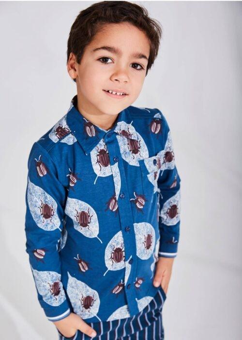 Hemd 4funkyflavours jongen blauw bruin