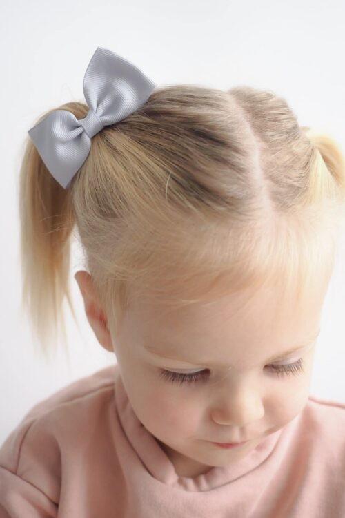 Noah & Sisi Haarspeld met strik - lichtgrijs