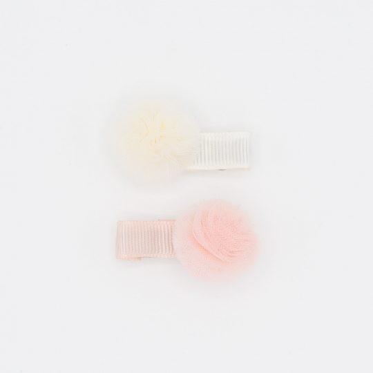 Speldjes Noah & Sisi meisje roze wit