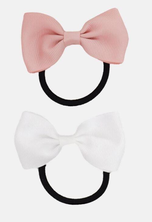 Noah & Sisi Haarelastiekjes pink/navy - set van 4