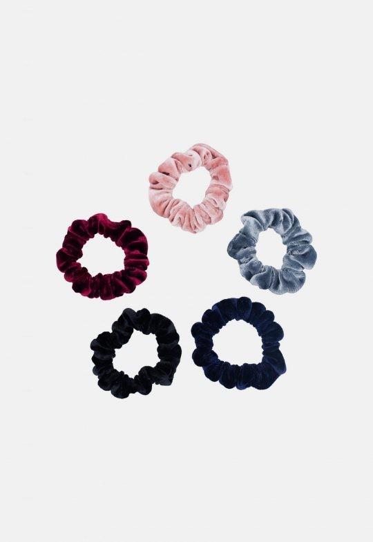 Velvet scrunchies - set van 5 Noah & Sisi