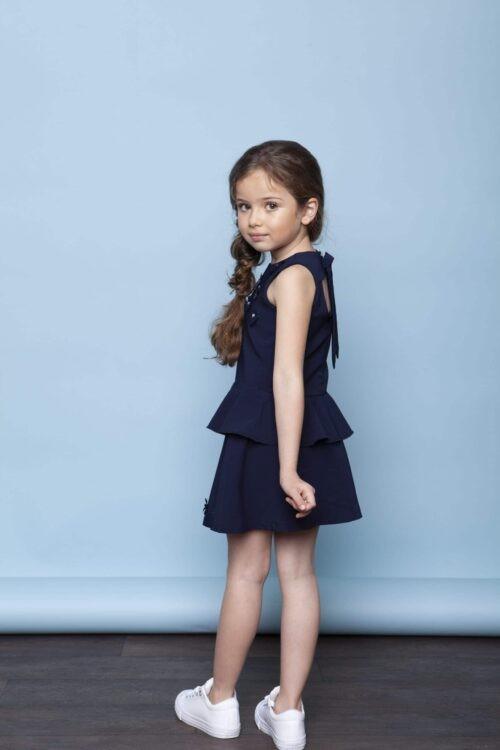 Top Le Chic meisje blauw