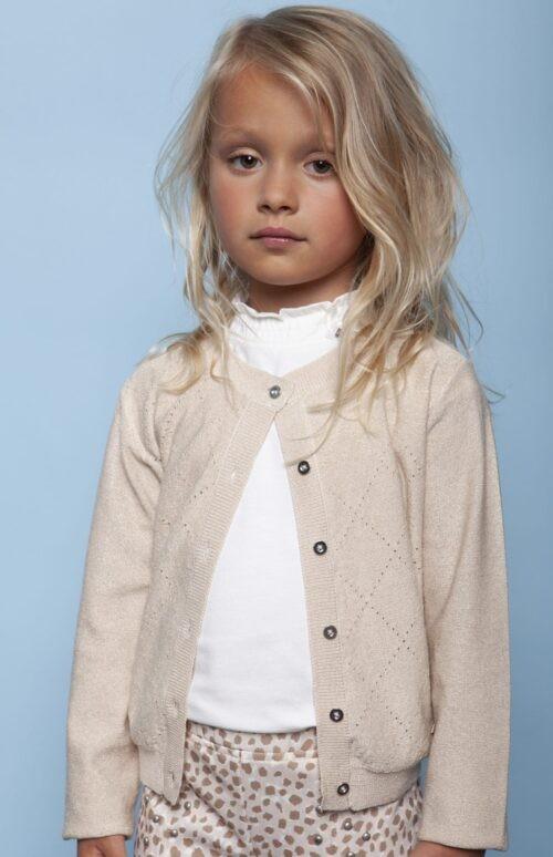 Gilet Le Chic meisje beige