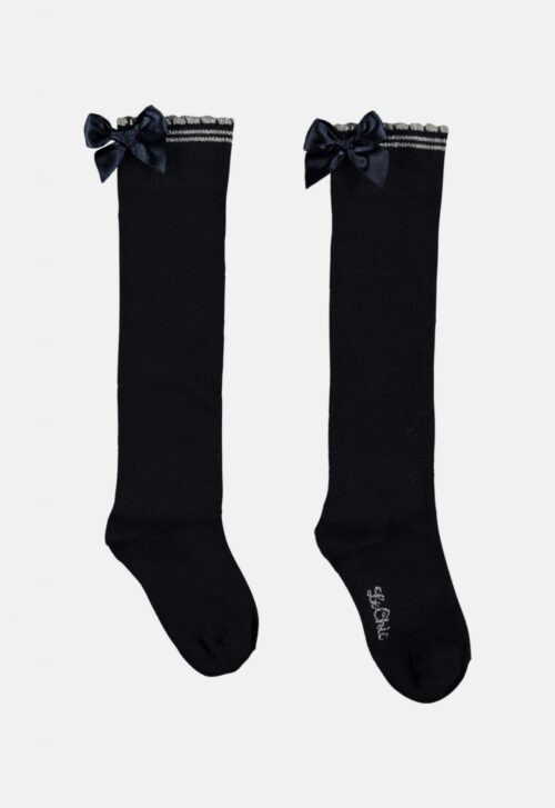 Kniekousen 'Bow - Navy' Le Chic