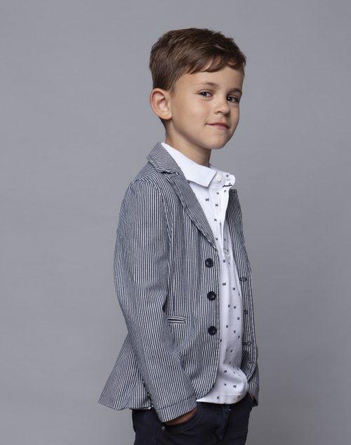 Blazer Le Chic Garçon jongen blauw wit