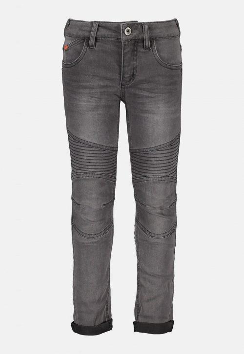 Skinny Stretch Jeans Kneepatches - Light Grey Denim Tygo & Vito