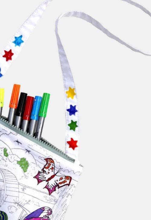 Herkleurbare handtas 'Vlinder' Eat Sleep Doodle