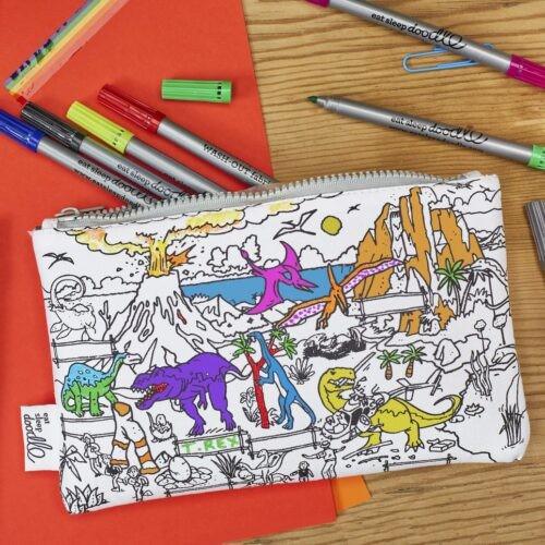 Pennenzak Eat sleep doodle jongen meisje wit