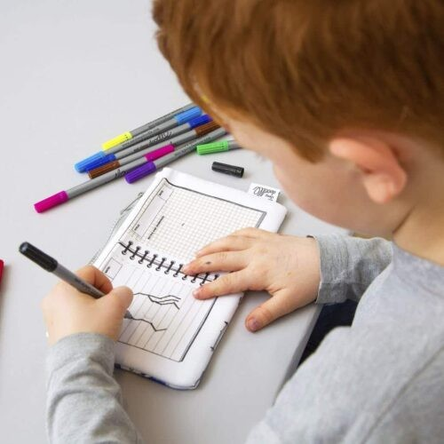Herkleurbare pennenzak 'Dino' Eat Sleep Doodle