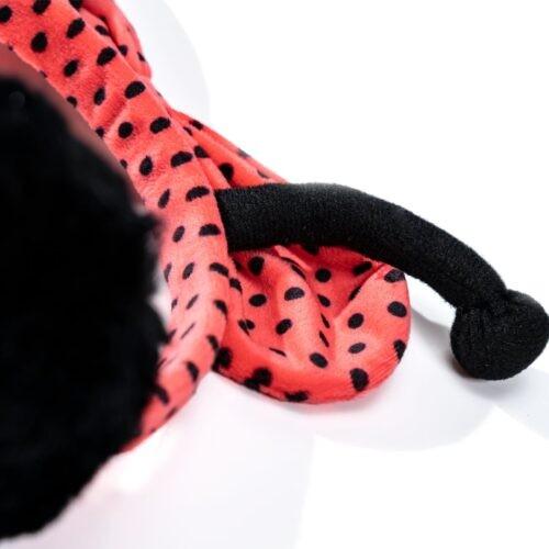 Oorwarmers Miss Nella roze zwart