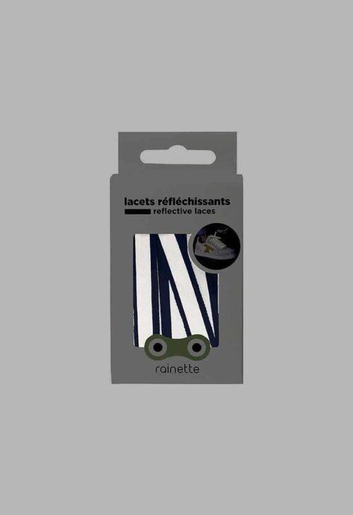 Rainette Reflecterende veters - blauw
