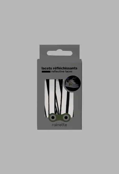 Reflecterende veters - zwart Rainette