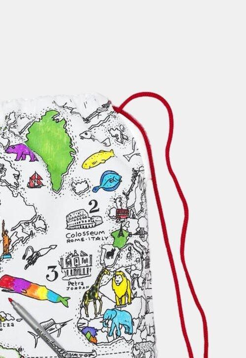 Herkleurbare rugzak 'World map' Eat Sleep Doodle