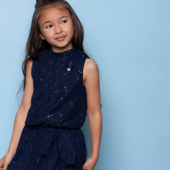 Blue Monday... . Dip it in glitter and sparkle all day! 🌟 @lechickidsfashion