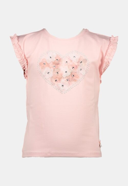 Le Chic T-shirt 'Flowers in Heart-shape'