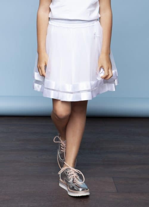 Le Chic Rok 'Petticoat Satin - wit'