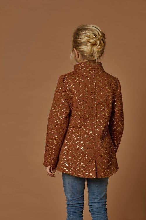 Thermo jas ByLindgren meisje camel goud