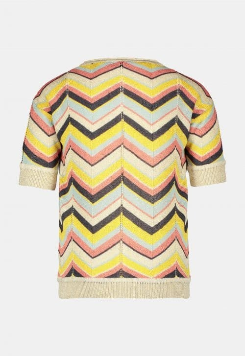 Top 'Knitted Zigzag' Like Flo