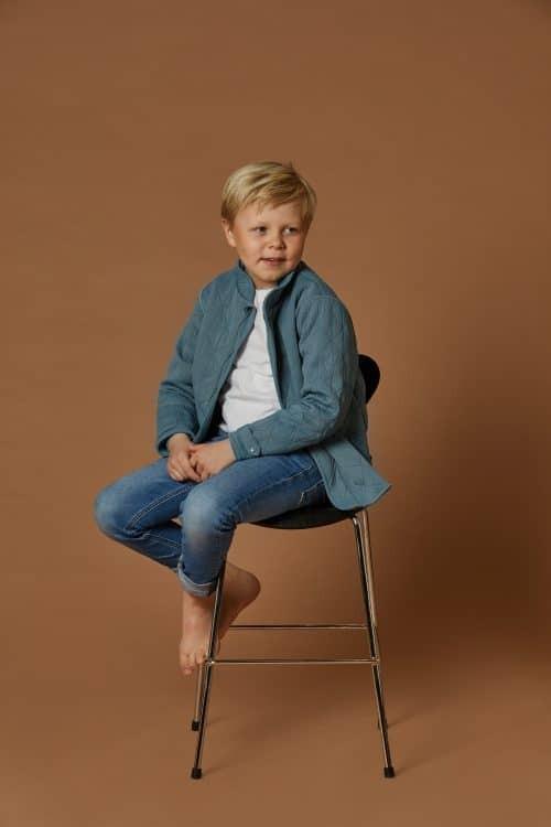 Thermo jas 'Little Leif - Wavy Blue' byLindgren