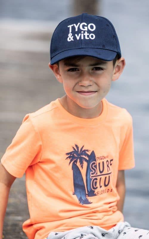 T-shirt Tygo en Vito jongen oranje blauw