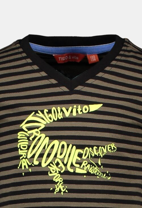 T-shirt 'Stripe Crocodile' Tygo & Vito