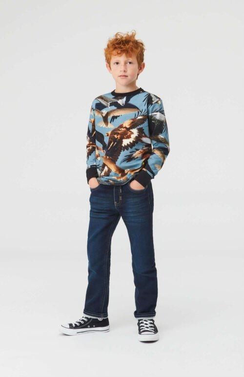 Longsleeve Molo jongen blauw zwart