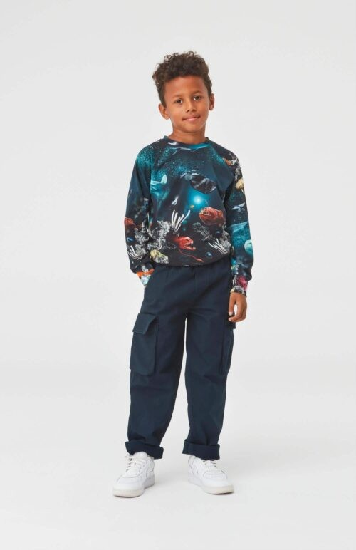 Sweater Molo jongen zwart blauw
