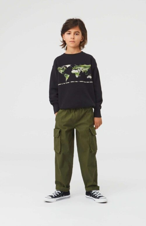 Sweater Molo jongen zwart groen