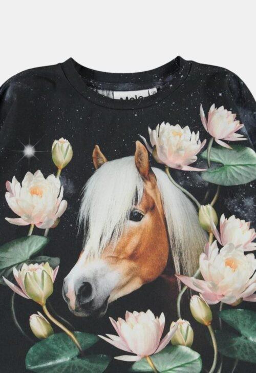 Molo Longsleeve 'Reniza - Water Lily Horse'