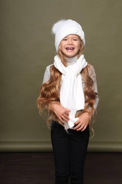 Sjaal Le Chic meisje wit