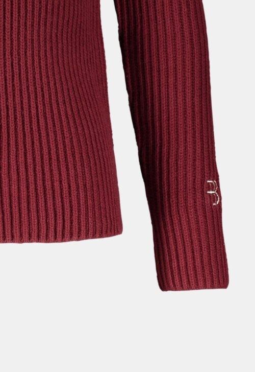 Red & Blu Trui 'Knitted Stripe - Bordeaux'
