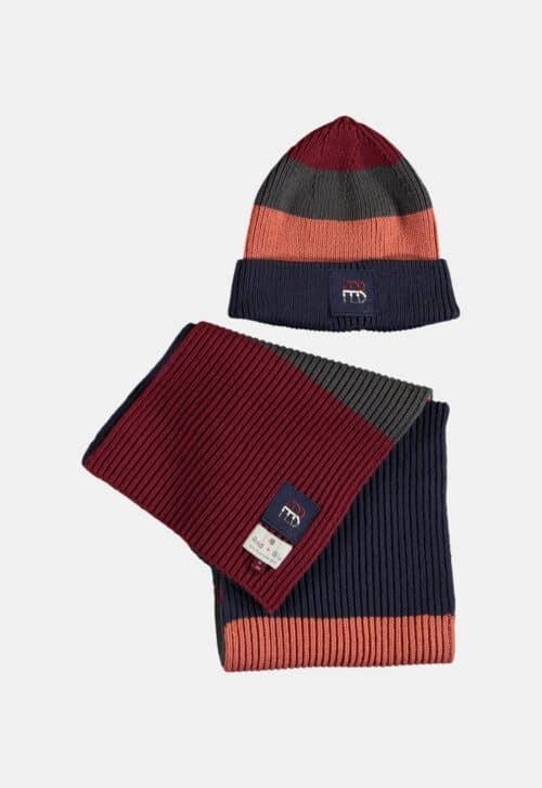 Red & Blu Set Muts & sjaal 'Multi'