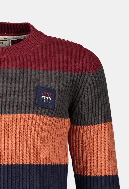 Red & Blu Trui 'Knitted Stripe - Multi'