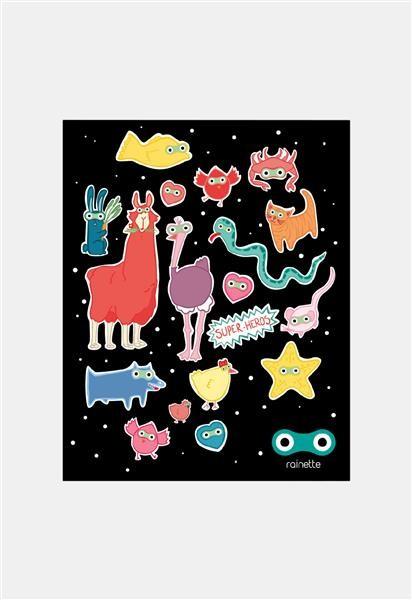 Rainette Reflecterende stickers - Super Heros