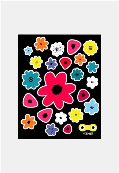 Rainette Reflecterende stickers - Fleurs