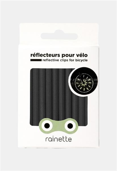Rainette Fiets reflectoren - zwart